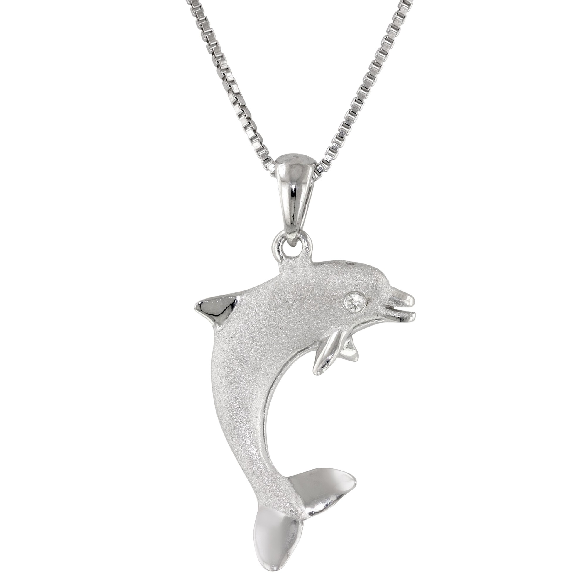 necklace fashion chain dolphin plated lovers pendant for platinum tone lba crystal silver design pv animal unique sea