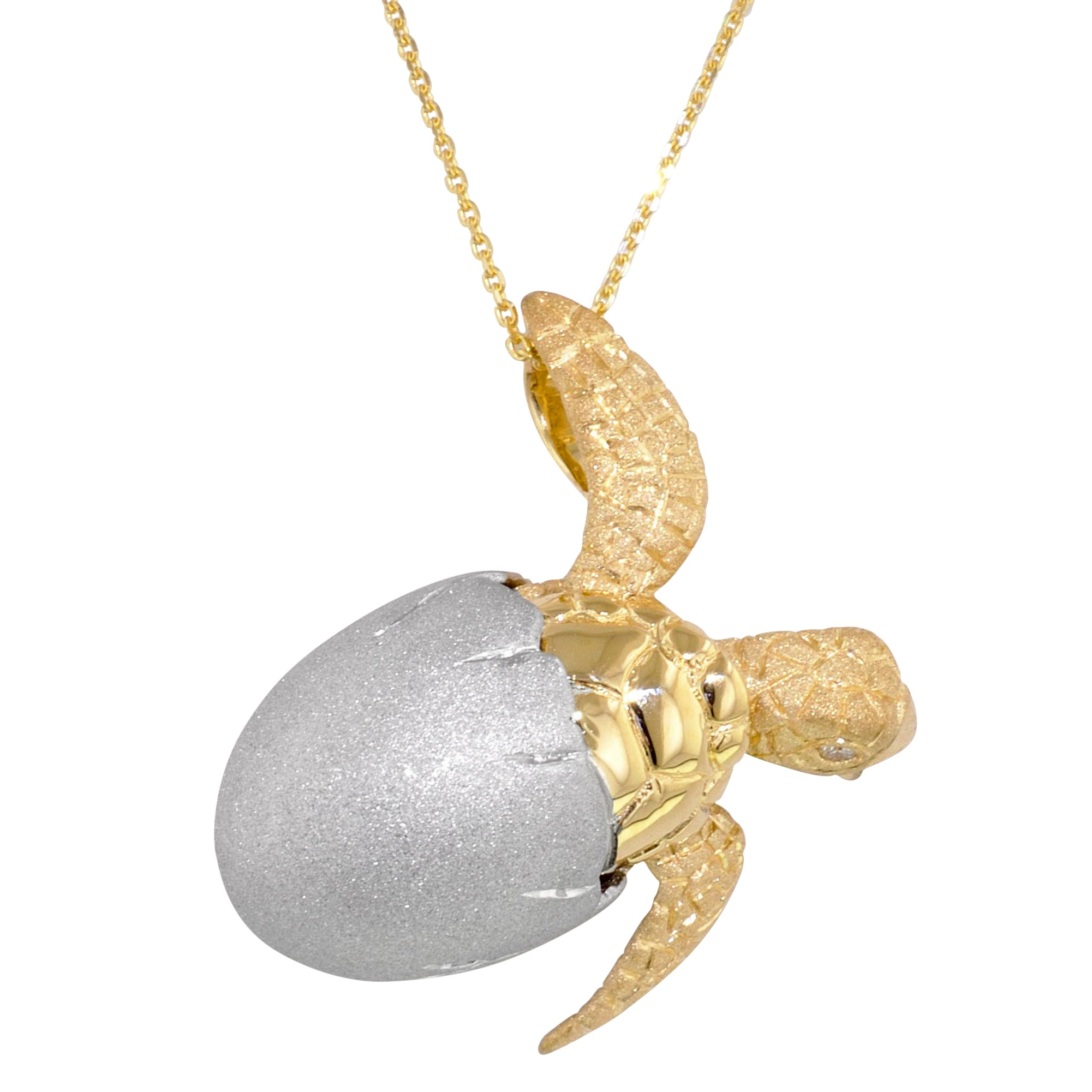 Hatching turtle pendant wr chance turtle in shell aloadofball Image collections